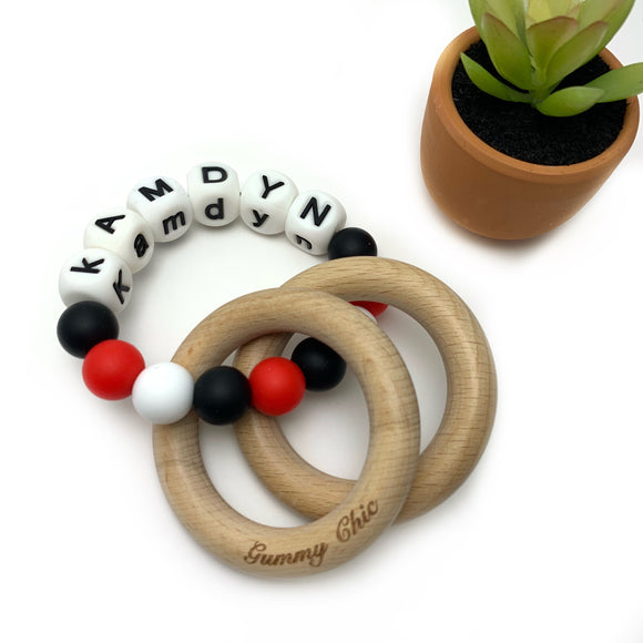 Personalized Teether Rattle - Teething Ring