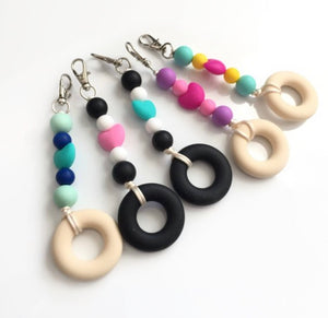 Silicone Keychains - Sensory Zipper Pull