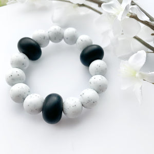 Black White Teething Ring - Freezer Teether