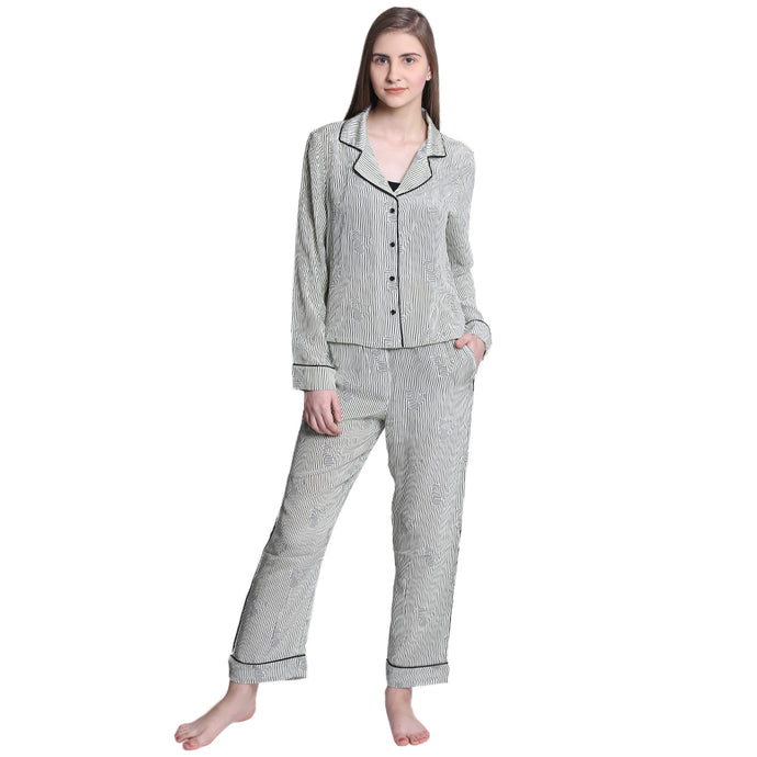 Corporate Cat – PJ set (Originally priced at INR 11,000) - Catnap luxury loungewear
