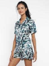 Mulberry leaves Green – Shirt and shorts - Catnap luxury loungewear