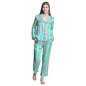 PJ set in silk from luxury loungewear Catnap