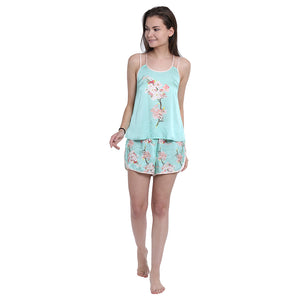 Cherry blossom cami and shorts - Catnap luxury loungewear