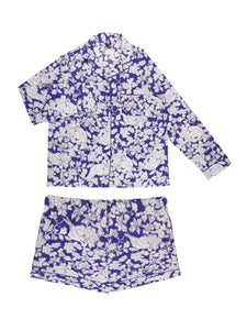 Blue bird full sleeve and shorts Set - Catnap luxury loungewear