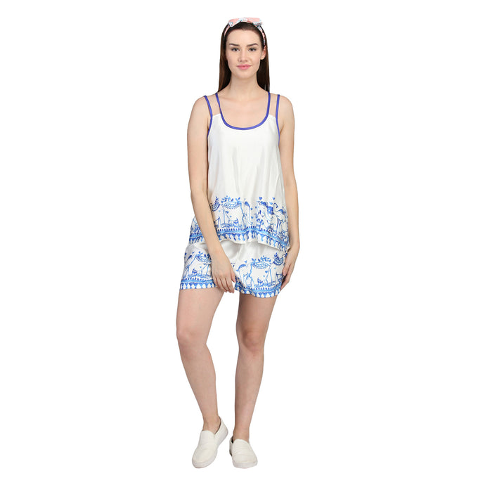 Cami and shorts in silk from Catnap sleepwear