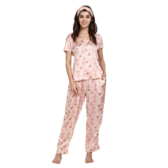 Beautiful Blossom - V-neck shirt and PJ