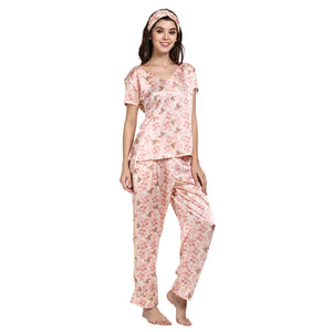 Vintage Blossom - V-Neck Top and Full Pajama Bottoms