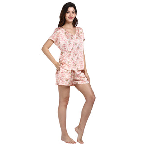 Vintage Blossom - V-Neck Top & Shorts - Catnap luxury loungewear