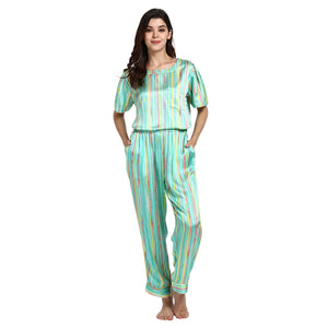 Watercolor T-shirt and PJ set - Catnap luxury loungewear