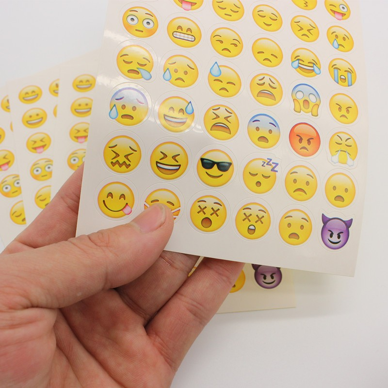 1pcs cut sticker 48 classic Emoji Stickers