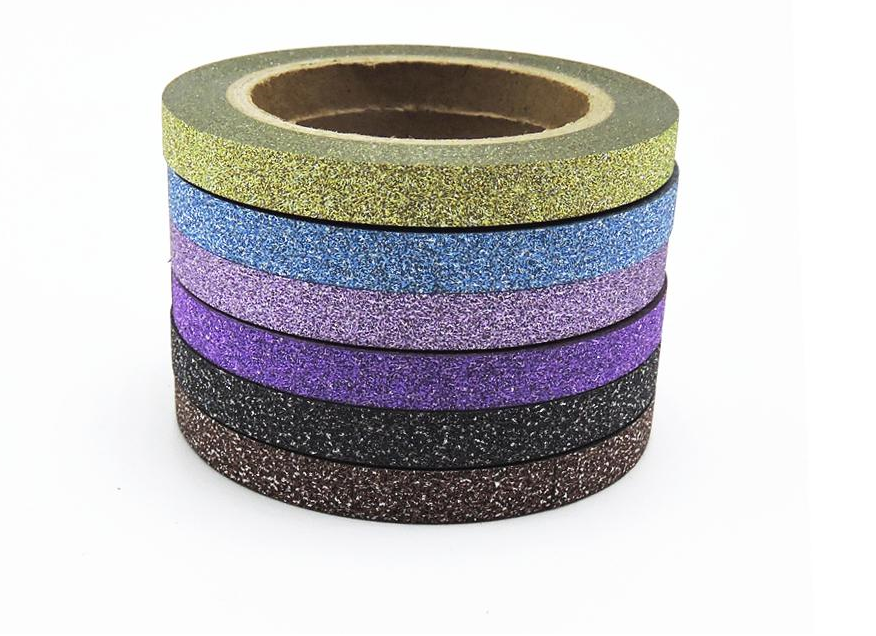 (6pcs/Set) Glitter Washi Tape Set Japanese Stationery Scrapbooking