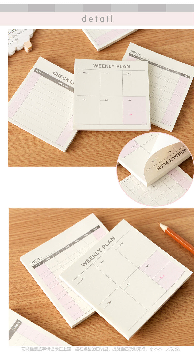 Cute Kawaii Weekly Monthly Work Planner Book Diary Agenda Dokibook For Kids School Supplies Free Shipping
