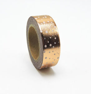 Golden Dot Foil Washi Tape