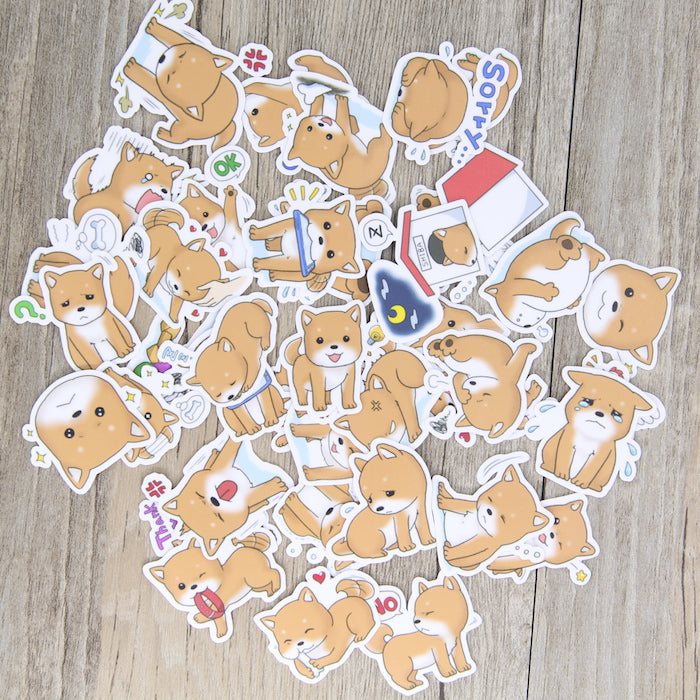 40 Pcs Puppy Stickers