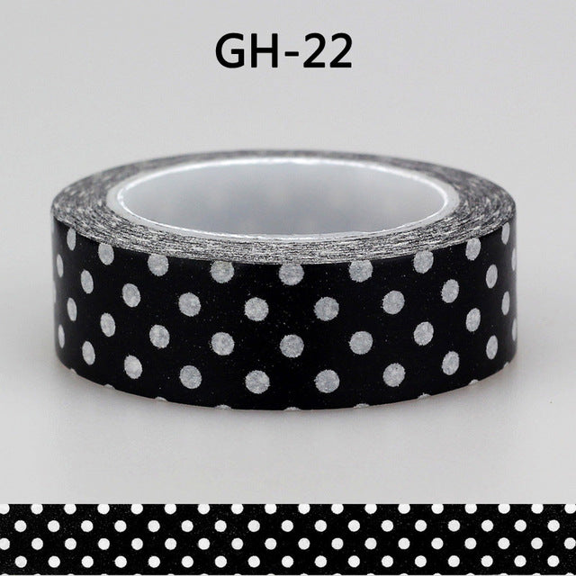 New Black Premium Washi Tape