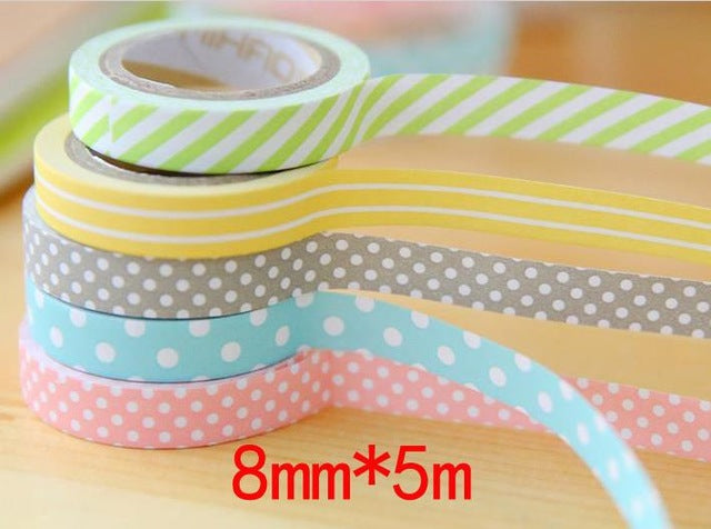 5-Pack Colors Of Party Premium Washi Tape