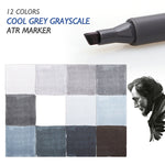 12 Shades of Gray Markers