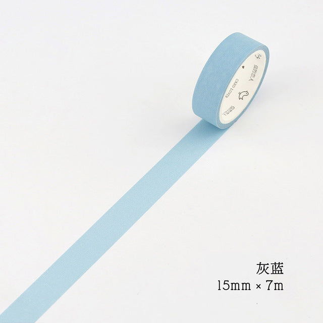 Solid Colors Premium Washi Tape
