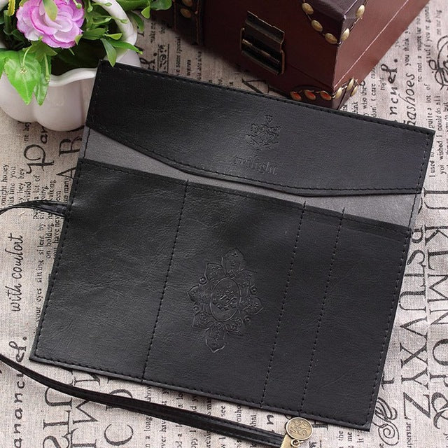 Leather Pencil Roll Bag