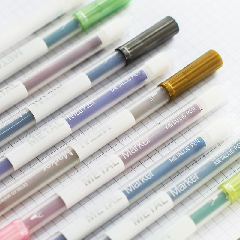 10 pcs/Lot Metallic Micron Pen