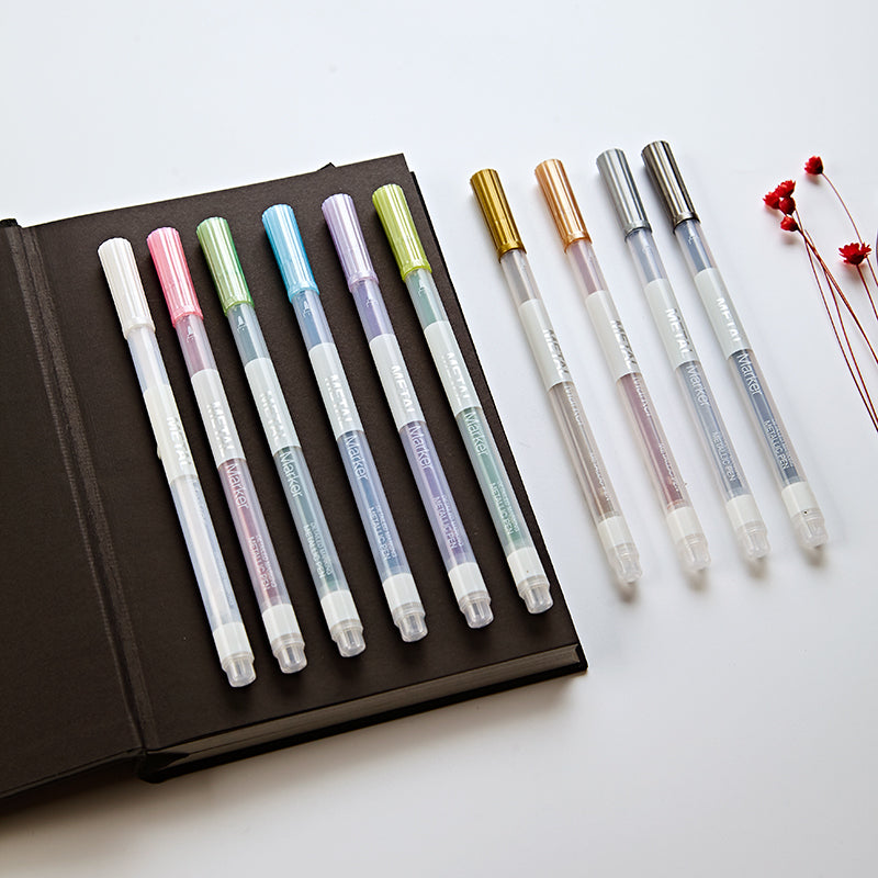 10 Pcs Metallic Micron Pen