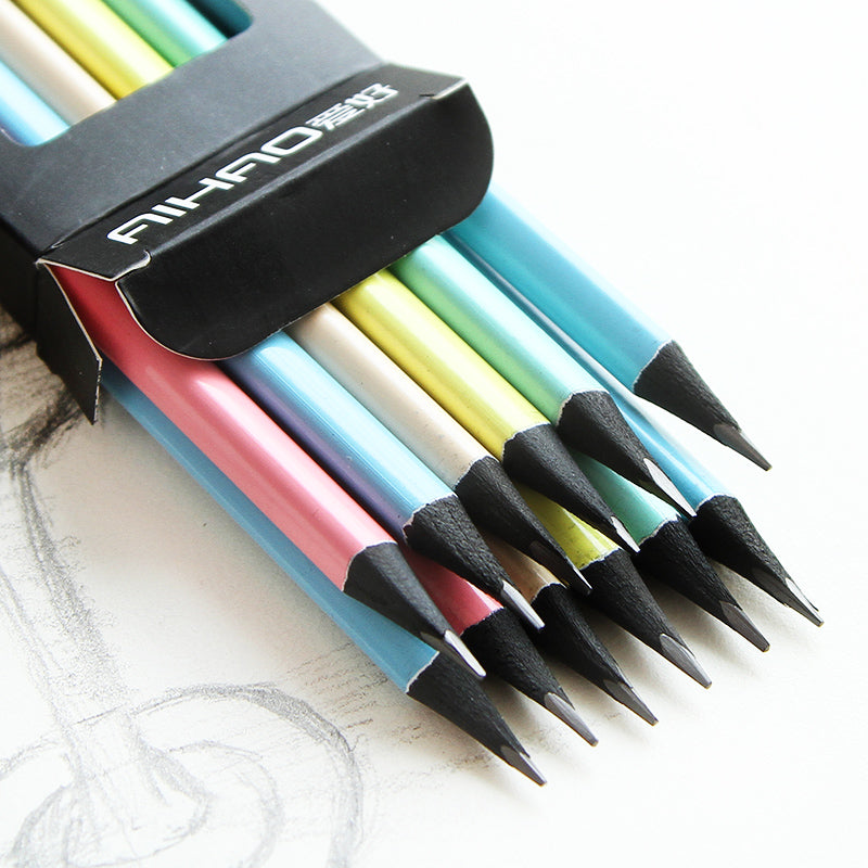 12 Pcs Pastel Covered Pencils