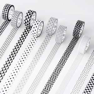 Black And White Premium Washi Tape