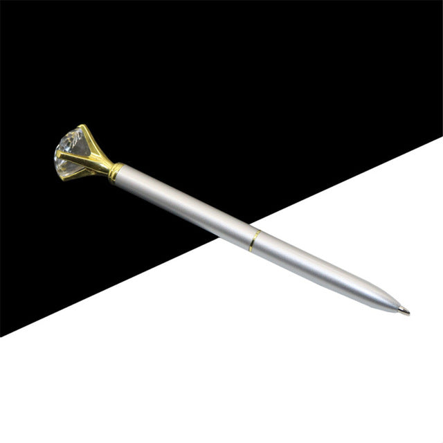 Kawaii Ballpoint Pen Big Gem Metal