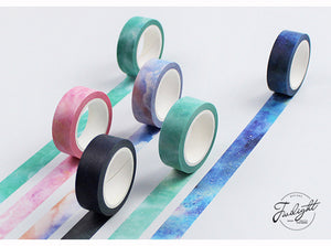 Creative Dream Sky Japanese Decorative Adhesive Tape For Journals, Stationary, Scrapbook