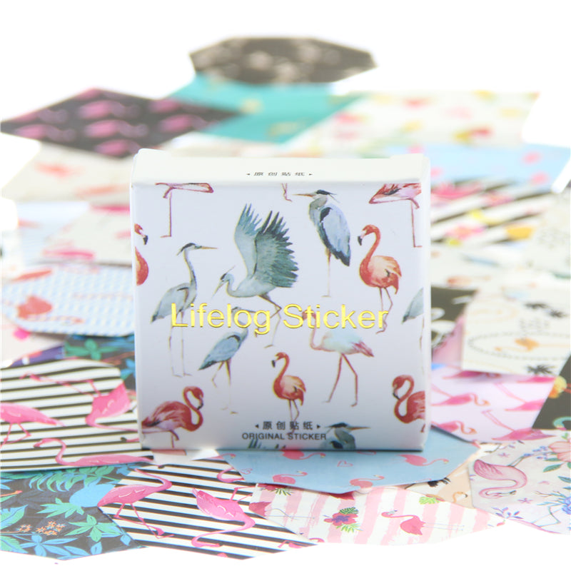 45Pcs/box Flamingo Memo Pads/Stickers
