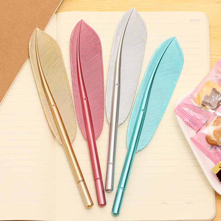 2 Pcs Kawaii Feather Gel Pen
