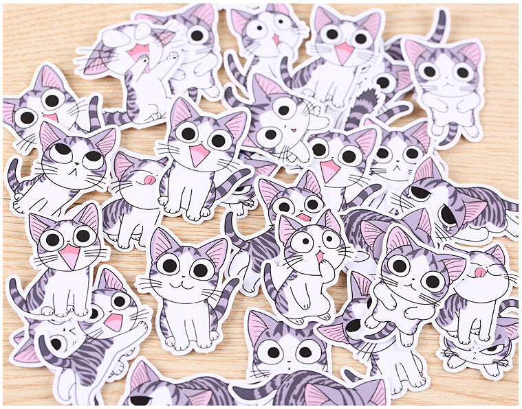 32 Pcs Sweet Cat Stickers