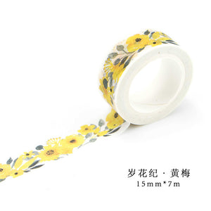 Washi Flower Tape FREE SHIPPING