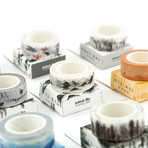 DIY Vintage Retro Chinese Style Masking Washi Tape Lovely Decorative Tape For Home Decoration Free Shipping