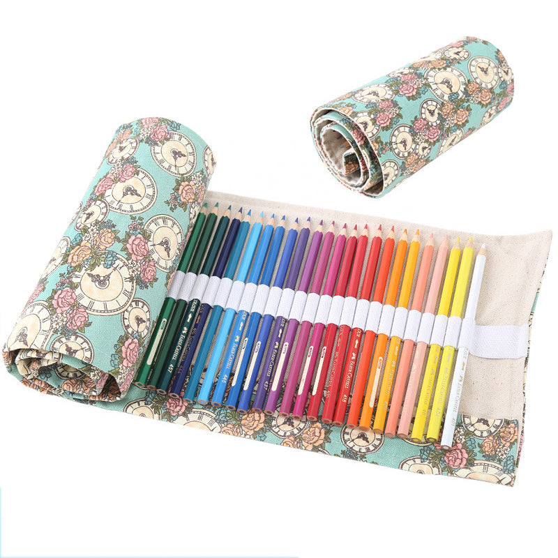36/48/72 Flower Canvas Pencil Case