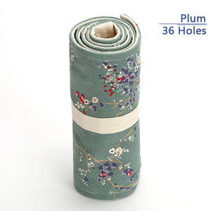 Flowery Canvas Pencil Case