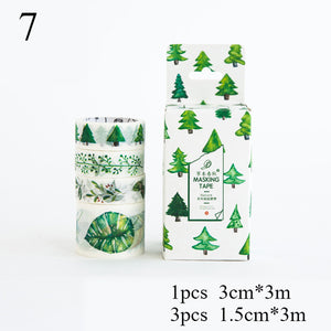 4 Pcs Vintage Washi Tape Set