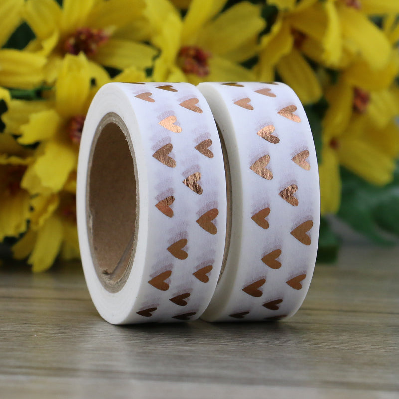 Heart Golden Foil Washi Tape