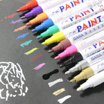 colorful Waterproof pen Car Tyre Tire Tread CD Metal Permanent Paint markers Graffiti Oily Marker Pen marcador caneta stationery