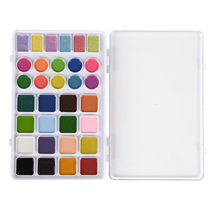32 Color Professional Solid Watercolor
