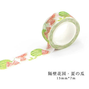 Flower Garden Premium Washi Tape
