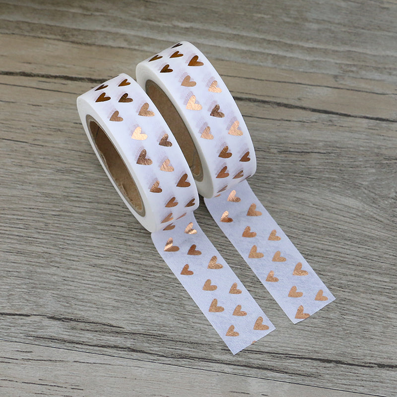 Golden Heart Foil Premium Washi Tape