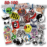 50-100 Pieces Do Not Repeat PVC Waterproof Fun Name Sticker Toys