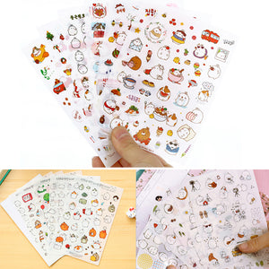 6 Sheet Kawaii Funny Rabbit Stickers