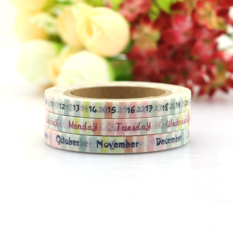 3 Pcs Twilight Date Washi Tape