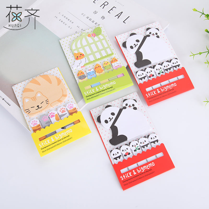 Cat and Panda Cute Sticky Notes