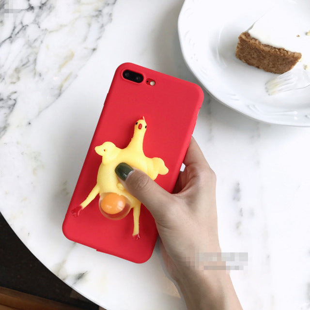 3D Screaming Chicken Case for iPhone 6 7 Case for iPhone 5 SE