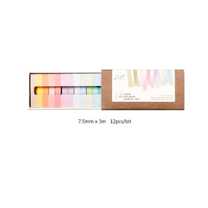 12-Pack Rainbow Washi Tapes