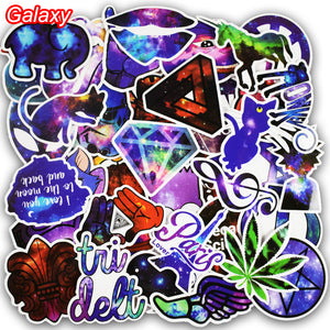50 Pcs Galaxy Scrapbook Stickers