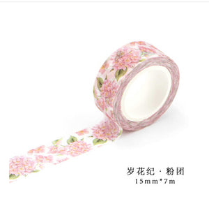 22 Styles Japanese Kawaii Washi Tape| Seasons Flower Plants Garden|